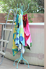 pool towel rack 1 outdoor spa and hanger ideas drying