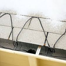 roof wires melt ice protect your property from melting ice and ice damming
