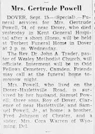 Gertrude Johnson Powell obituary - Newspapers.com