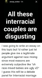 ✅ best memes about interracial couples interracial couples  marriage memes and ugly ancap outlaw 13h all these interracial couples are disgusting
