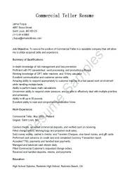 Bank Teller Resume Example Example Of Cashier Resume Bank Teller ...