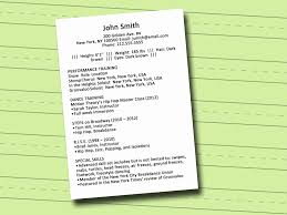 Resume Acting Resume Special Skills The Best Resumes Best Free
