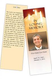 Sacred Candles Memorial Bookmark Template Projects To Try