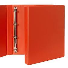 4 Binder Binder A4 4 D Ring 25mm Orange Officeworks
