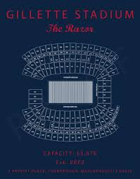 Gillette Stadium Seating Chart New England Patriots Gillette Stadium Sign Gillette Stadium Prints Gift For Patriots Fan Vintage Patriots