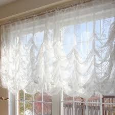 austrian lace love balloon curtain