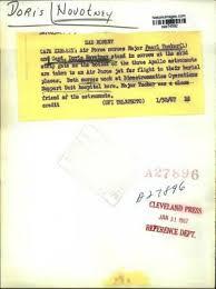1967 PRESS PHOTO Major Pearl Tucker & Doris Novotney Watch Astronauts  Funeral - $19.99   PicClick