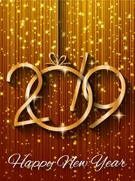 Shiny Gold Happy New Year Card 2019 Do You Have A Glamour Loving