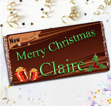 personalised original style merry 114g galaxy chocolate bar stocking filler gift n83