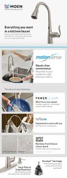 Moen Kitchen Faucet Hands Free Moen Arbor Single Handle Pull Down Sprayer Touchless Kitchen