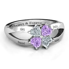 infinity mothers ring. four clover hearts mother\u0027s ring infinity mothers