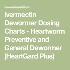 Ivermectin Dewormer Dosing Charts Heartworm Preventive And