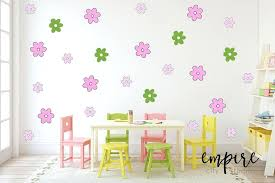 small flowers wall decal stylized flower decals girls wall decor girls vinyl decals cartoon flowers comic
