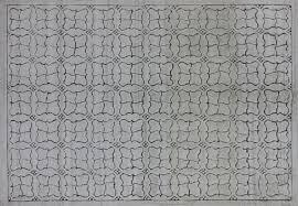 geometric rug pattern. Handmade Moroccan Oriental 6x9 Brocade Weave Hand Knotted Ivory Wool Rug H8962 Geometric Pattern