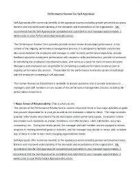 Assessment Example Performance Review Example Good Likeness E Appraisal Self Assessment ...