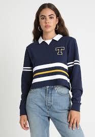 tommy jeans colorblock rugby sweatshirt black iris