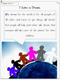 i have a dream lesson plan k computer lab i have a dream finished example