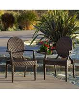 adriana pe wicker outdoor chairs set of 2 by christopher knight home adriana pe wicker outdoor chair 2pk brown size 2 piece sets patio furniture iron