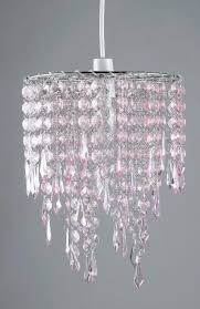 blush pink acrylic crystal jewel drops ceiling pendant light shade chandelier 1 of 4free