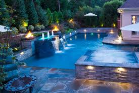 Collierville Modern Geometric Pool Spa Outdoor Living Design