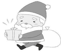 クリスマスの無料イラストかわいいカットカード集白黒カラー Web