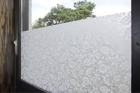 Statische Fensterfolie Milchglas Selbstklebend Sichtschutz
