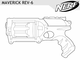Great Nerf Gun Coloring Pages 54 In Coloring Site With Nerf Gun