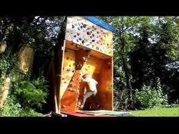 homemade outdoor bouldering wall you