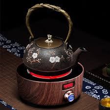 cast iron induction cooker teapot warmer
