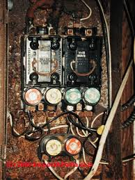 mobile home electrical inspection guide how to inspect the New Fuse Box For House Cost rusty fuse panel serving a double wide mobile home (c) daniel friedman Replace House Fuse
