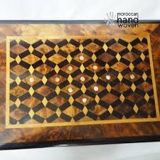Board Games In Wooden Box Moroccan wooden box 93