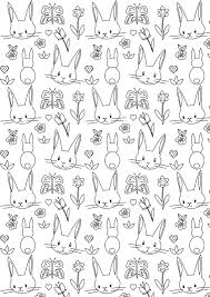 Free Printable Bunny Coloring Page Ausdruckbares