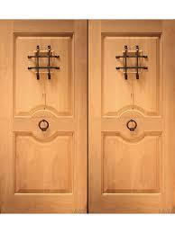 rustic exterior double door with speakeasy and door knocker solid wood 76 75 by aaw exterior sc 1 st doornmore