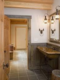 rustic tuscan furniture. rustic bathroom idea in burlington with a trough sink and open cabinets tuscan furniture l
