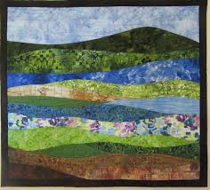 Art Quilt Abstract Landscape 7 Wall Hanging Nature quilts & Like this item? Adamdwight.com