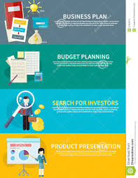 Business Plan Budget Planning Search Investors Stock Vector For