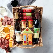 wine gift baskets hearty bites basket ideas wedding and cheese nyc