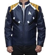 star trek jacket men s leather blue jacket
