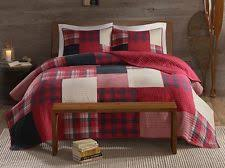 Red Quilt   eBay & SUNSET Full / Queen QUILT SET : RED BUFFALO CHECK PLAID LODGE CABIN COVERLET Adamdwight.com
