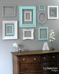 shabby chic decor piece distressed custom picture frame set collection open wall frames decorating ideas decoration