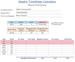 timesheetcalculator excel timesheet calculator template for 2018 free download