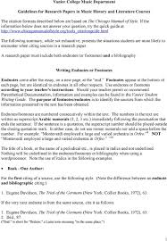 Vanier College Music Department Guidelines For Research Papers In