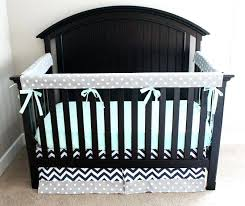 navy crib bedding this modern mint navy and gray crib bedding from is a fun mix