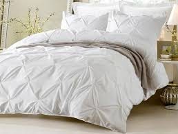 pinch pleat design white duvet cover set style 1006 cherry hill collection we know