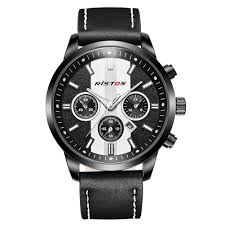 compare prices on black metal mens watch online shopping buy low ristos luxury band popular fashion sport business round leather band wristwatches quartz black cool mens watches reloj hombre