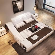 modern bedroom furniture with storage.  Modern 180cmX200cm 2017 Modern Designer White Leather Soft Double Bedroom Furniture  With Storage Throughout Modern Bedroom Furniture With Storage