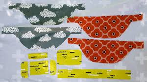 fabric pieces for pack