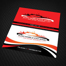 Car Wash Visiting Card Design Bold Modern It Company Business Card Design For A Company