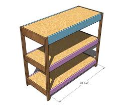 trim pieces as shown above again 2 s and glue or use the kreg jig from the underside of the shelves keep the top edge flush on the shelves