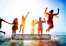 海夏のレジャー施設の無料友情休日休暇コンセプト の写真素材画像素材